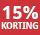 15% korting - periode 1 - 2021
