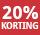 20% korting - periode 5