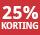 25% korting - periode 8 & 9