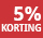 5% korting - periode 10