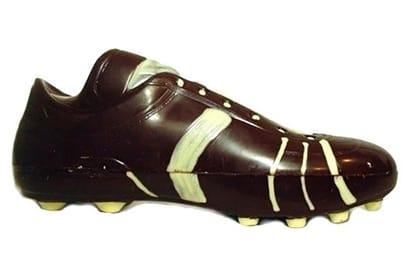 Chocoladevorm voetbalschoen