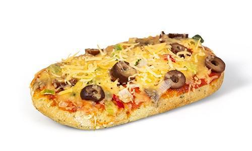 Pizza vegetarisch ovaal
