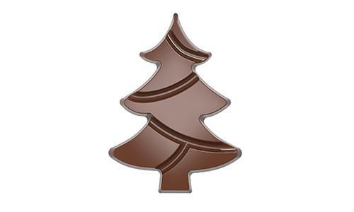 Chocoladevorm tablet kerstboom