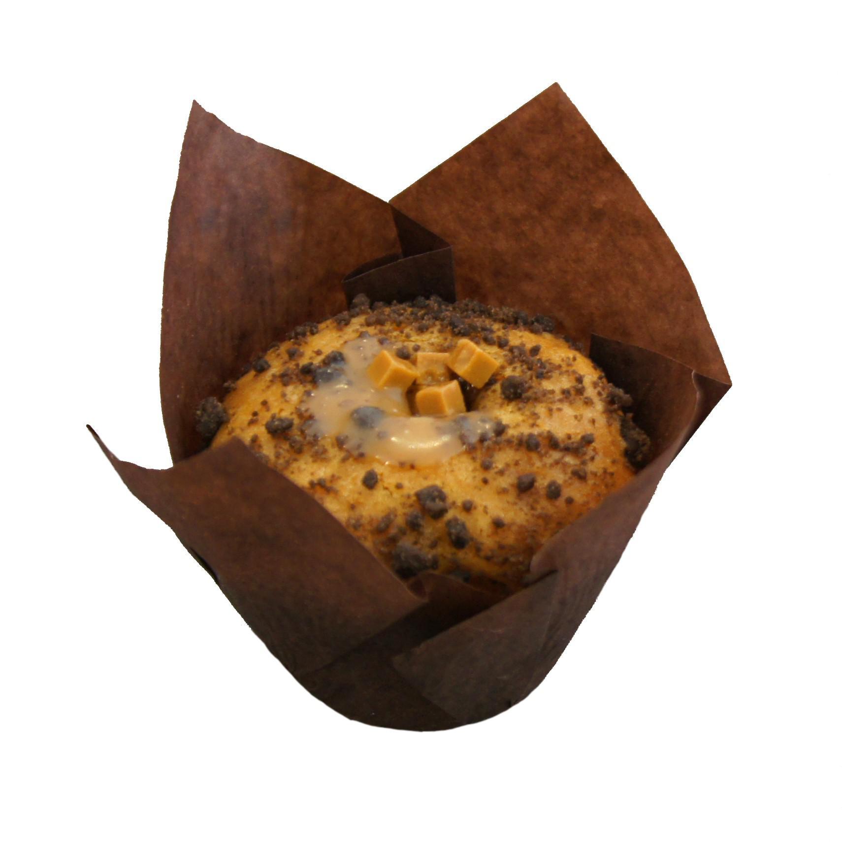 Muffin caramel zeezout
