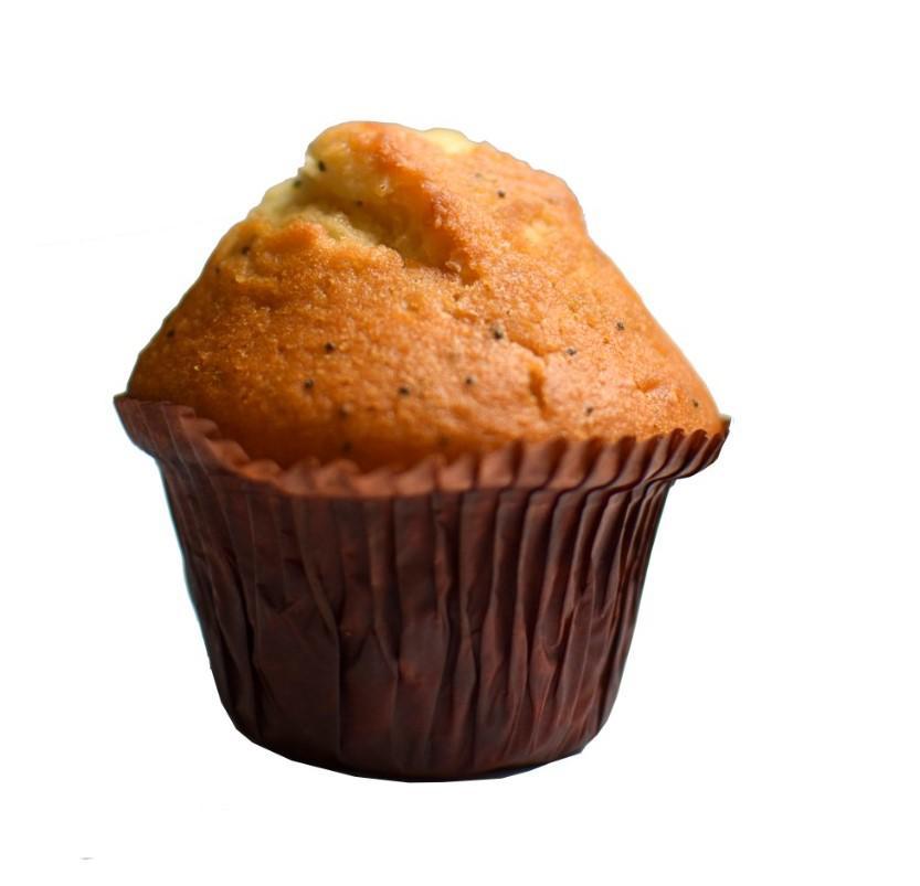 Muffin vanille met maanzaad